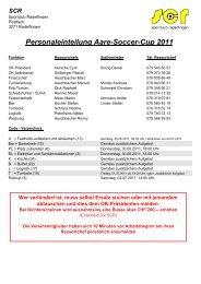 Personaleinteilung Aare-Soccer-Cup 2011.xlsx - SC Radelfingen