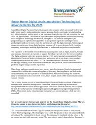 Smart Home Digital Assistant Market