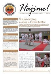 Vereinszeitung Shotokan Dojo Jena e.V. 02/2017