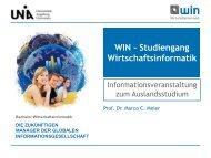 WIN - Studiengang Wirtschaftsinformatik - Universität Augsburg