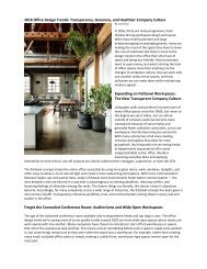 2016-17 Office Design Trends: Transparency, Greenery, and Healthier Company Culture by Janie Diaz