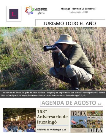Revista Digital, Turismo Todo el Año de Ituzaingó, Corrientes