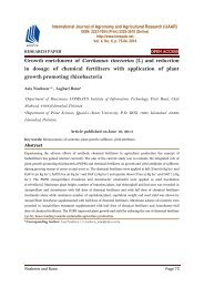 Growth enrichment of Carthamus tinctorius (L) and reduction in dosage of chemical fertilizers with application of plant growth promoting rhizobacteria