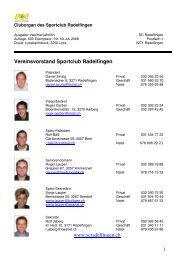 50. AU-Nachrichten 2008 - SC Radelfingen