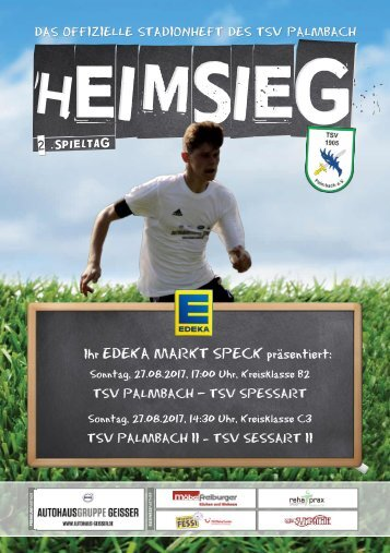 TSV Palmbach Saison 17-18 Heft 01