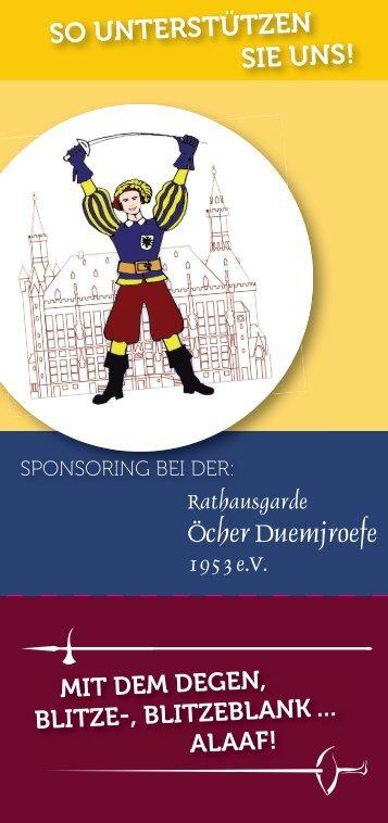 Sponsoring Duemjroefe