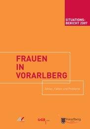 situations- bericht 2007 frauen in vorarlberg