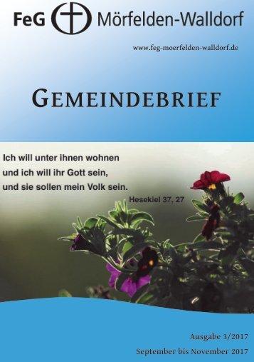 Gemeindebrief September - November 2017