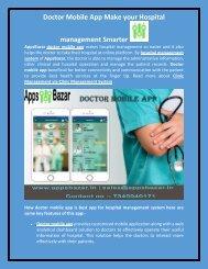 Doctor Mobile App Make your Hospital management Smarter