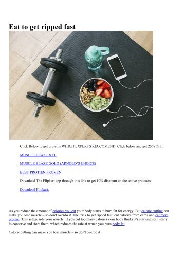 Eat to get ripped fast