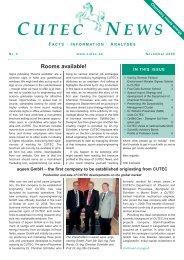 Rooms available! - CUTEC-Institut GmbH