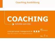Coaching Ausbildung Intensiv APT Human Management 2017