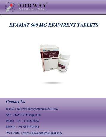 Efamat 600 mg at Lowest Price | Efavirenz 600 mg | HIV Drugs Wholesale Pharmaceutical