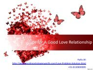 Tips for A Good Love Relationship