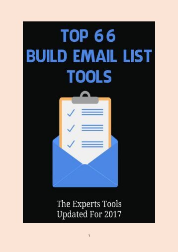 Top 66 Build Email List Tools