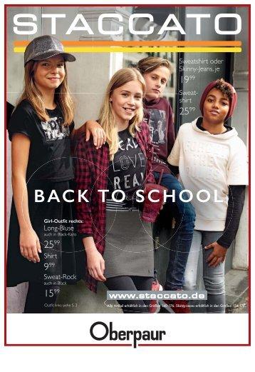 Oberpaur Ludwigsburg - BACK TO SCHOOL 2017