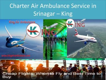 Charter Air Ambulance Service in Srinagar – King