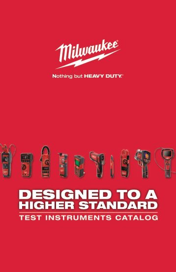 Milwaukee Tool Test Instruments Catalog