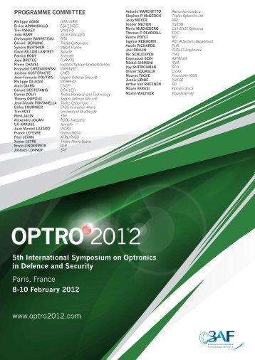 8-10 February 2012 - OPTRO 2012