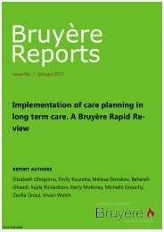 Implementation of care planning in long term care: A Bruyère Rapid Review