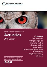 The Only Graduate Career Guide to Actuaries 2017/18