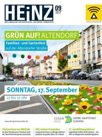 HEINZ Magazin Wuppertal 09-2017