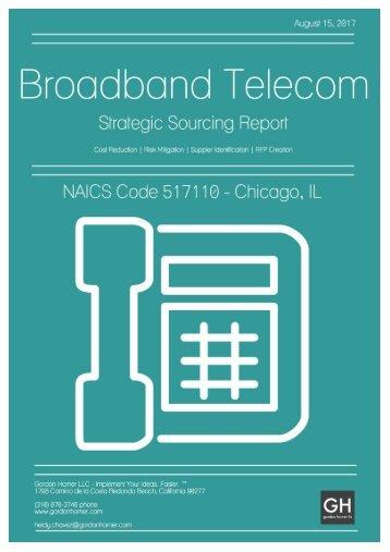 Broadband Telecom - Strategic Sourcing Report - Chicago