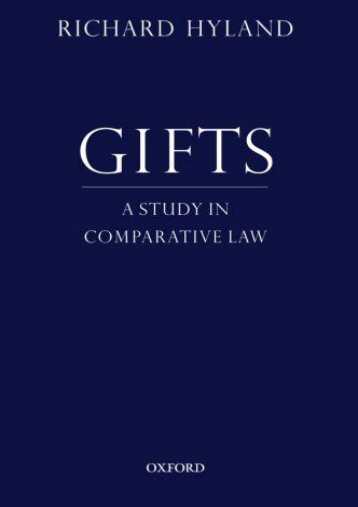 Best PDF Gifts: A Study In Comparative Law -  For Ipad - By Richard Hyland