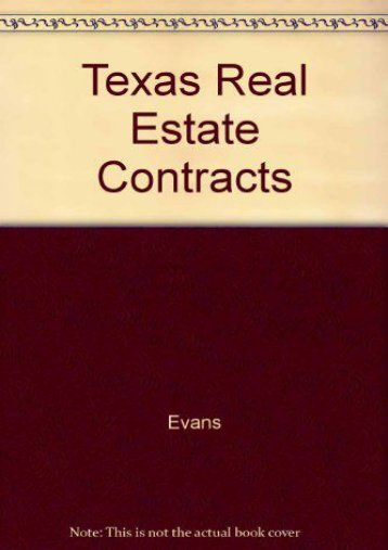 Best PDF Texas Real Estate Contracts -  Populer ebook - By Evans