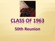 CLASS of 1963 50th
