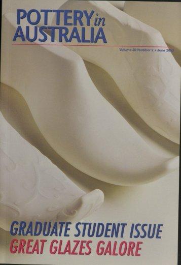 Pottery In Australia Vol 39 No 2 June 2000