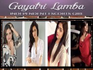 Indian Top Best Escorts in Chennai- Gayatri Lamba