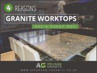 4 Advantages of Granite Worktops