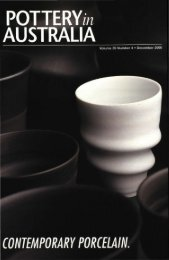 Pottery In Australia Vol 39 No 4 December 2000