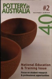 Pottery In Australia Vol 40 No 2 June 2001