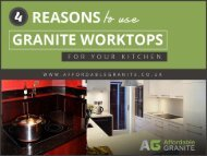 4 Advantages of Installing Granite Worktops