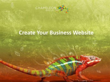 Create Your Business Website - Chameleon Print Group