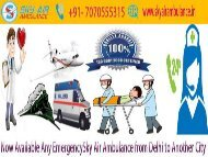 Best ICU Medical Relief Transfer by Sky Air Ambulance from Jamshedpur and Gorakhpur
