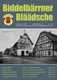 HGV_Biddelbärrner Bläädsche-Sommer 2017_web
