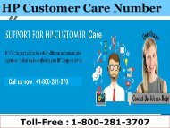 18002813707 HP Customer Care Support Number