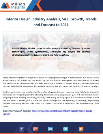 interior design industry analysis size growth trends and forecast to 2021 - Interior Design Industry Analysis