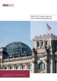 Wahl 2017: Erwartungen an die neue Bundesregierung