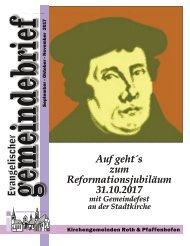 Evang.-luth. Kirchengemeinde Roth - Gemeindebrief Sept. - Nov. 2017