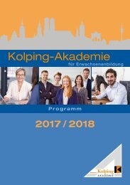 Kolping-Akademie München Programm 2017 2018