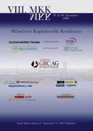 Konferenzkalender 2010 - auf der Münchner Kapitalmarkt Konferenz