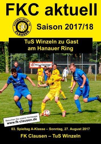 FKC Aktuell - 03. Spieltag - Saison 2017/2018