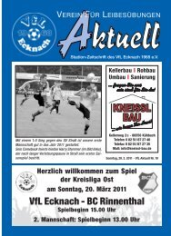 VfLAktuell_10_10/11 - VfL Ecknach