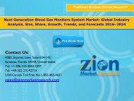 Global Next Generation Blood Gas Monitors System Market, 2016 – 2024