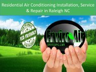Residential Air Conditioning Installation, Service & Repair in Raleigh NC