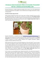 Aromaaz International offers Coriander Essential Oil for a Balanced & Healthy Life